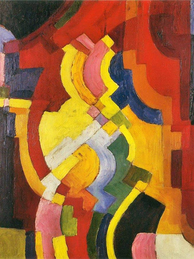 Coloured Forms Iii By August Macke
