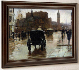 Columbus Avenue Rainy Day By Childe Hassam