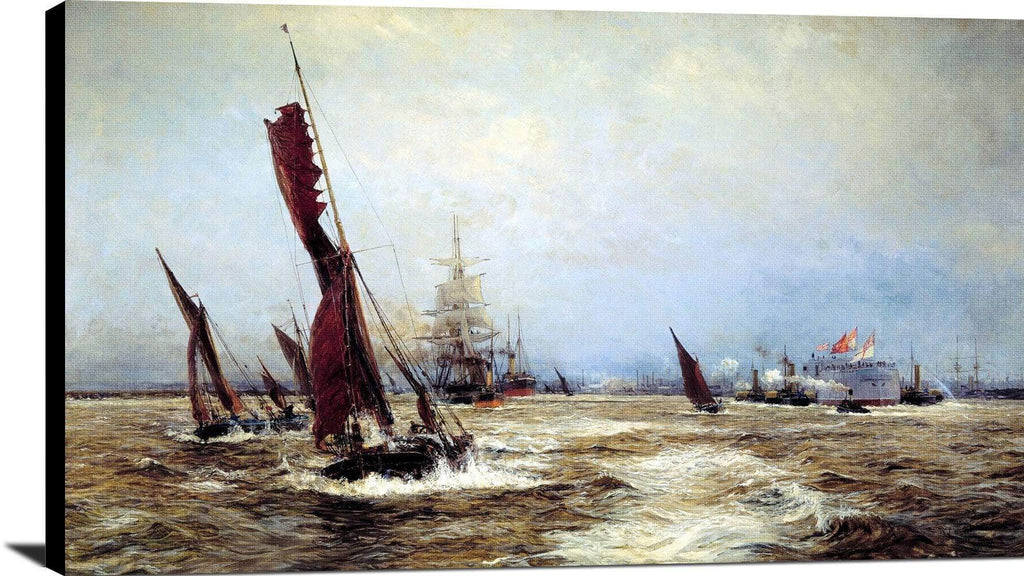 Commerce And Sea Power Painting William Lionel Wyllie Canvas Art