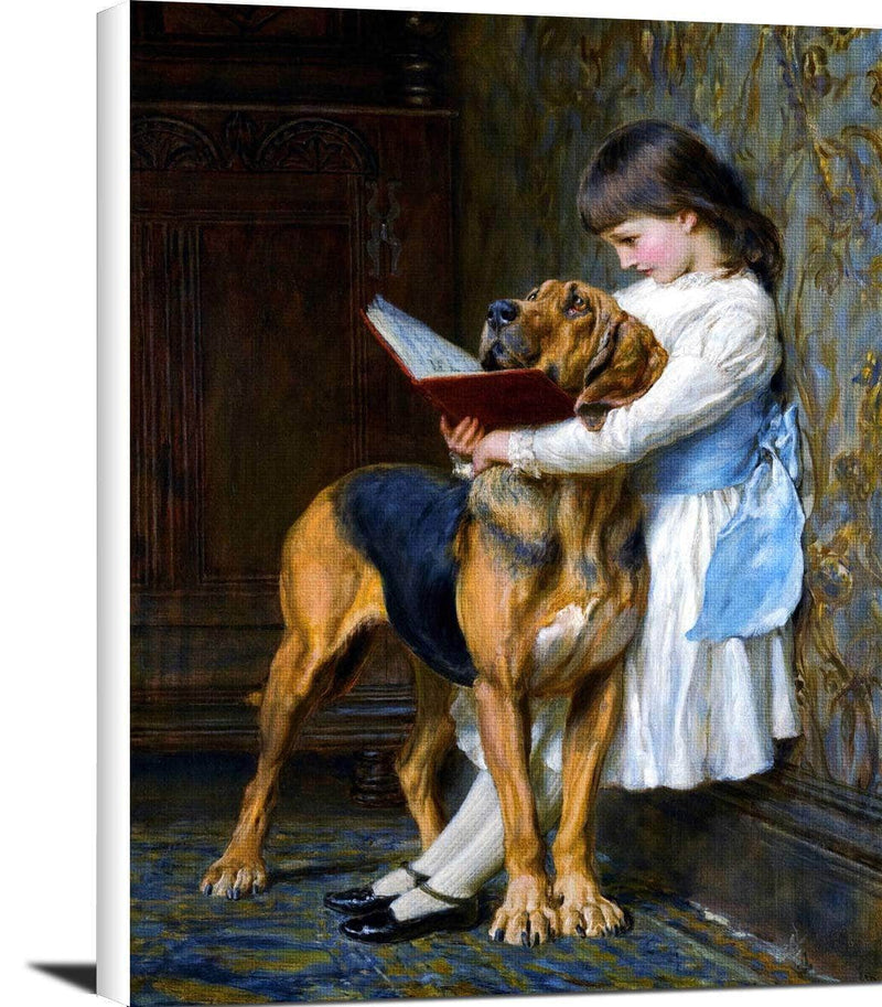 Compulsory Education Painting Briton Riviere Canvas Art