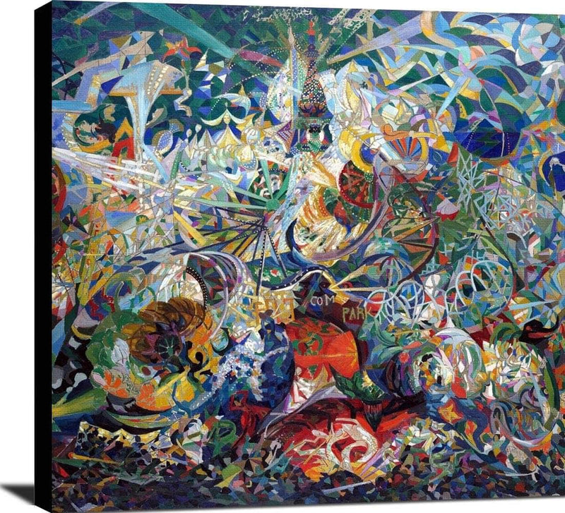 Coney Island American Dreamland Painting Joseph Stella Canvas Art