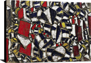 Contrast Of Forms Painting Fernand Leger Canvas Art