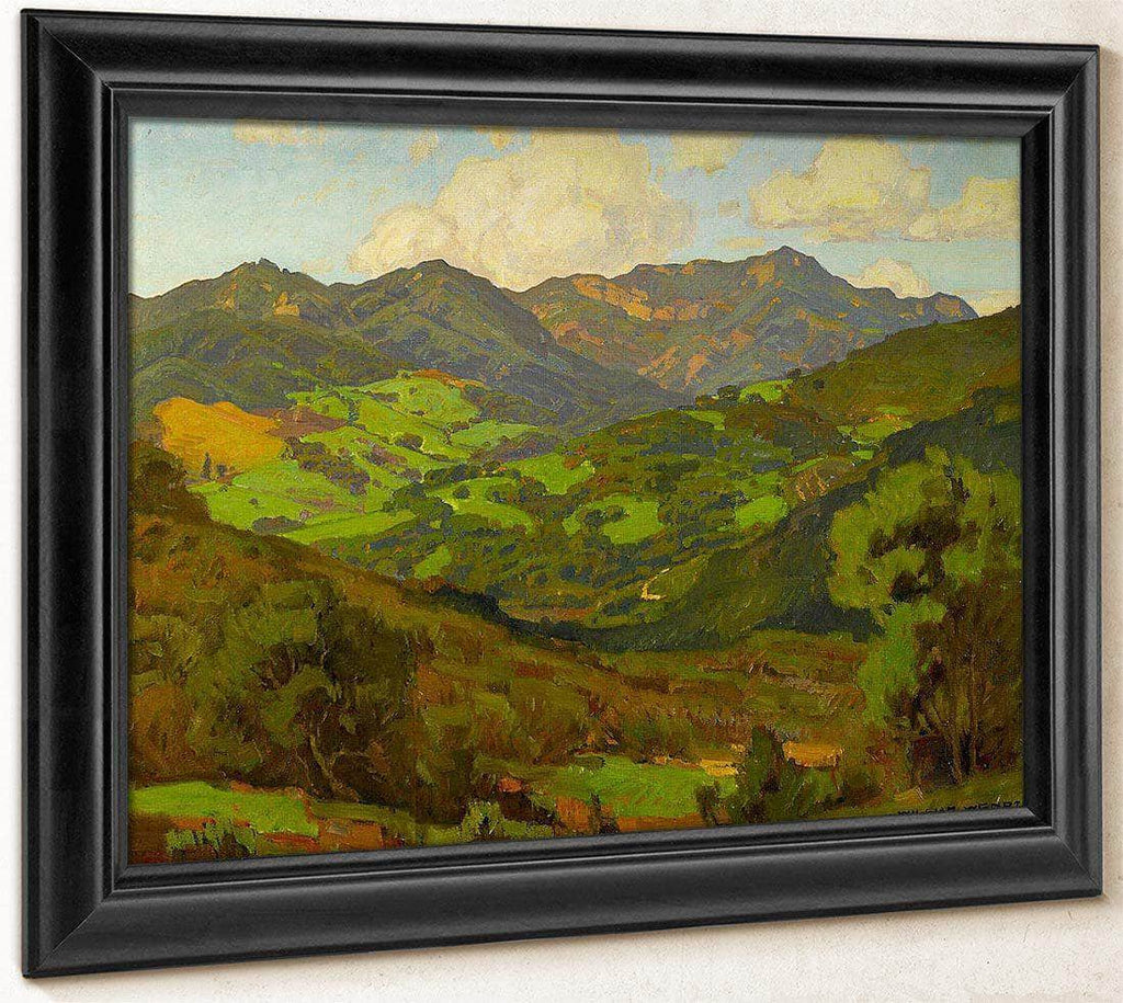 Converging Fields (Mountains Of Malibu) By William Wendt