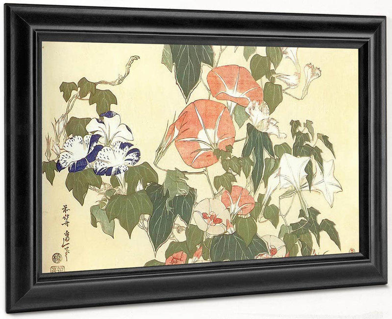 Convolvulus And Tree Frog By Hokusai