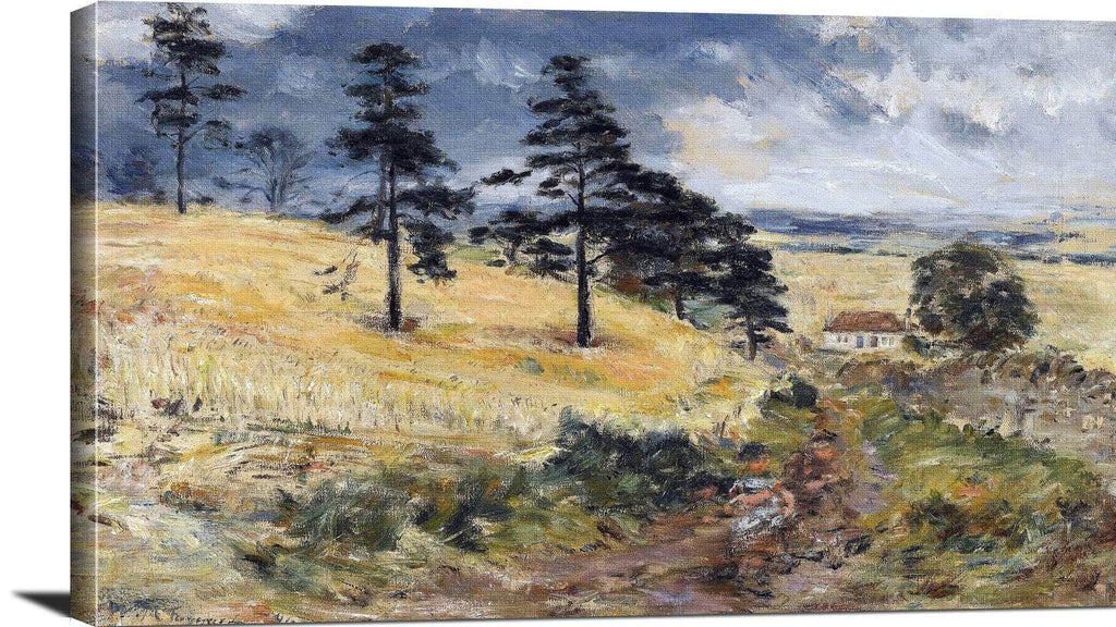 Cornfield At Cowden Painting William Mctaggart Canvas Art