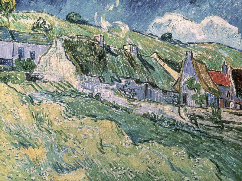 Cottages At Auvers Sur Oise By Vincent Van Gogh