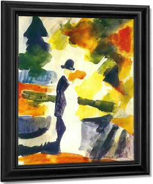 Couple In A Park By August Macke