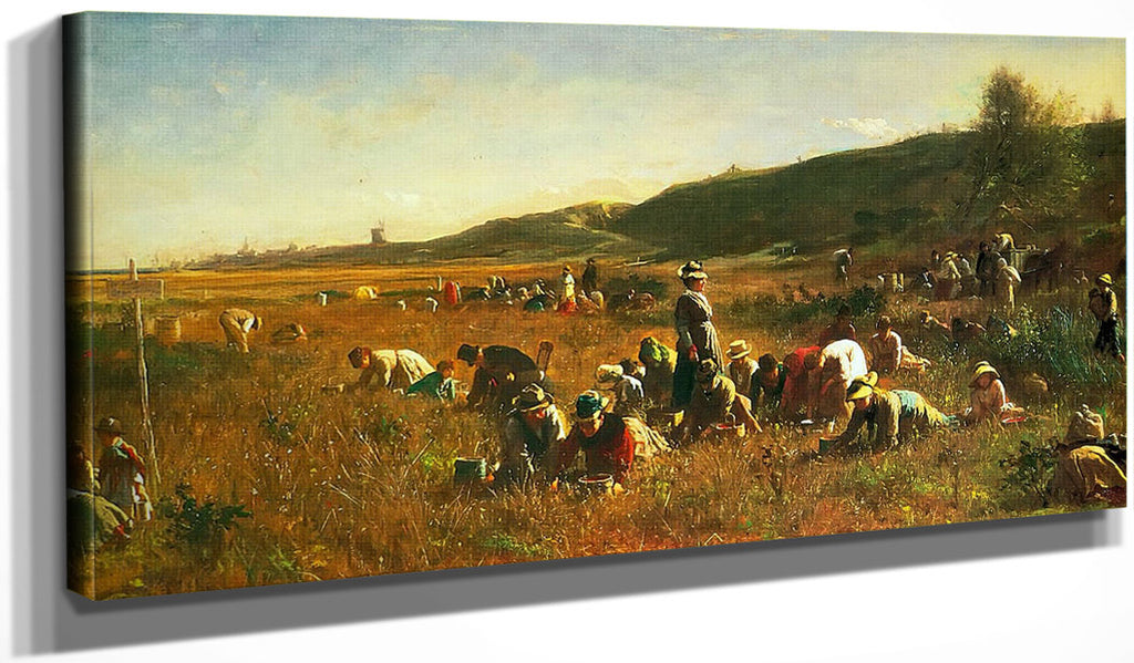 Cranberry Harvest By Eastman Johnson