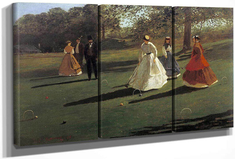 Croquet Players By Winslow Homer