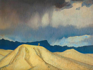 Cross On The Hill By Maynard Dixon