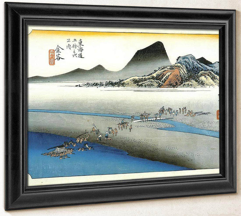 Crossing A Wide River By Hiroshige