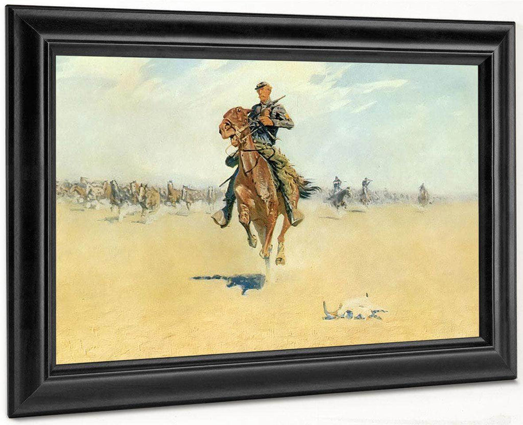 Cutting Out Pony Herds By Frederic Remington