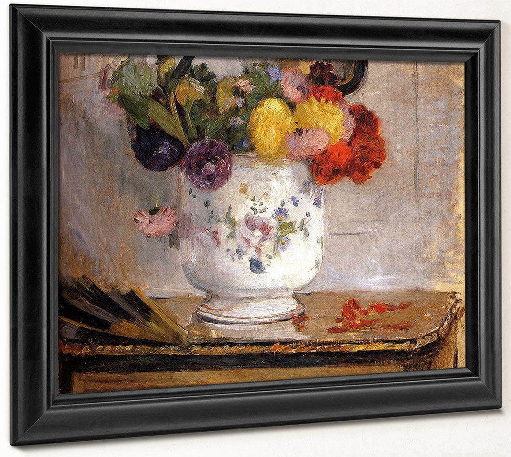 Dahlias 1876 Oil On Canvas 5590X4610Mm Private Collection By Berthe Morisot