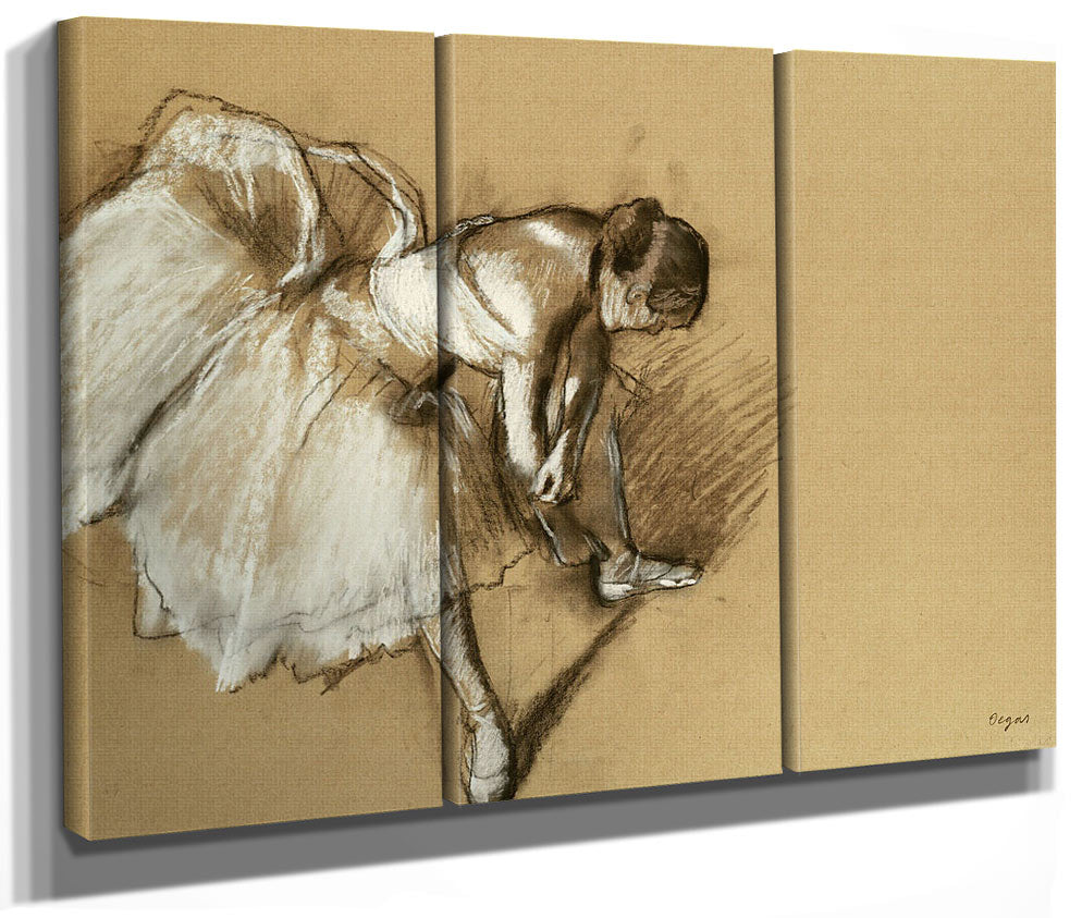 Dancer Adjusting Her Shoe By Edgar Degas