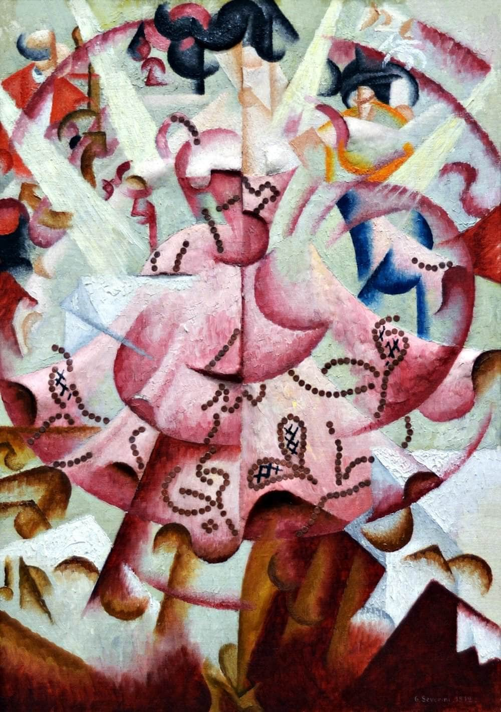 Dancer At Pigalle Painting Gino Severini Canvas Art