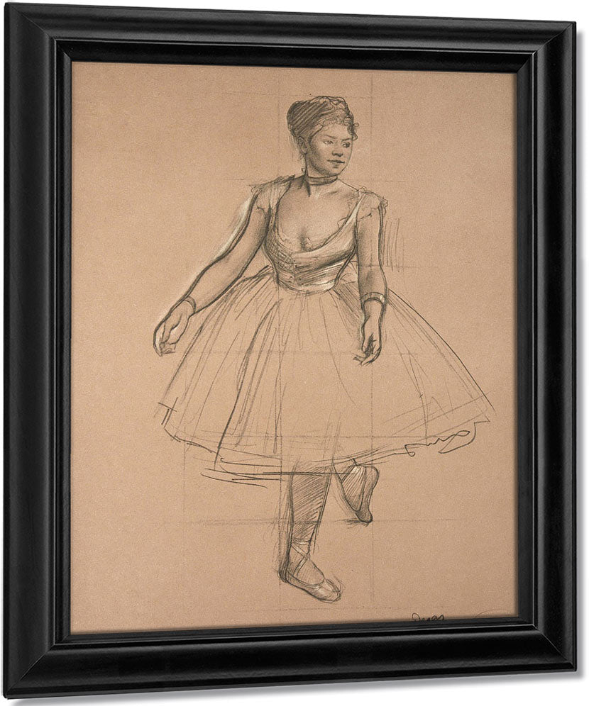 Dancer In Position, Three Quarter View By Edgar Degas