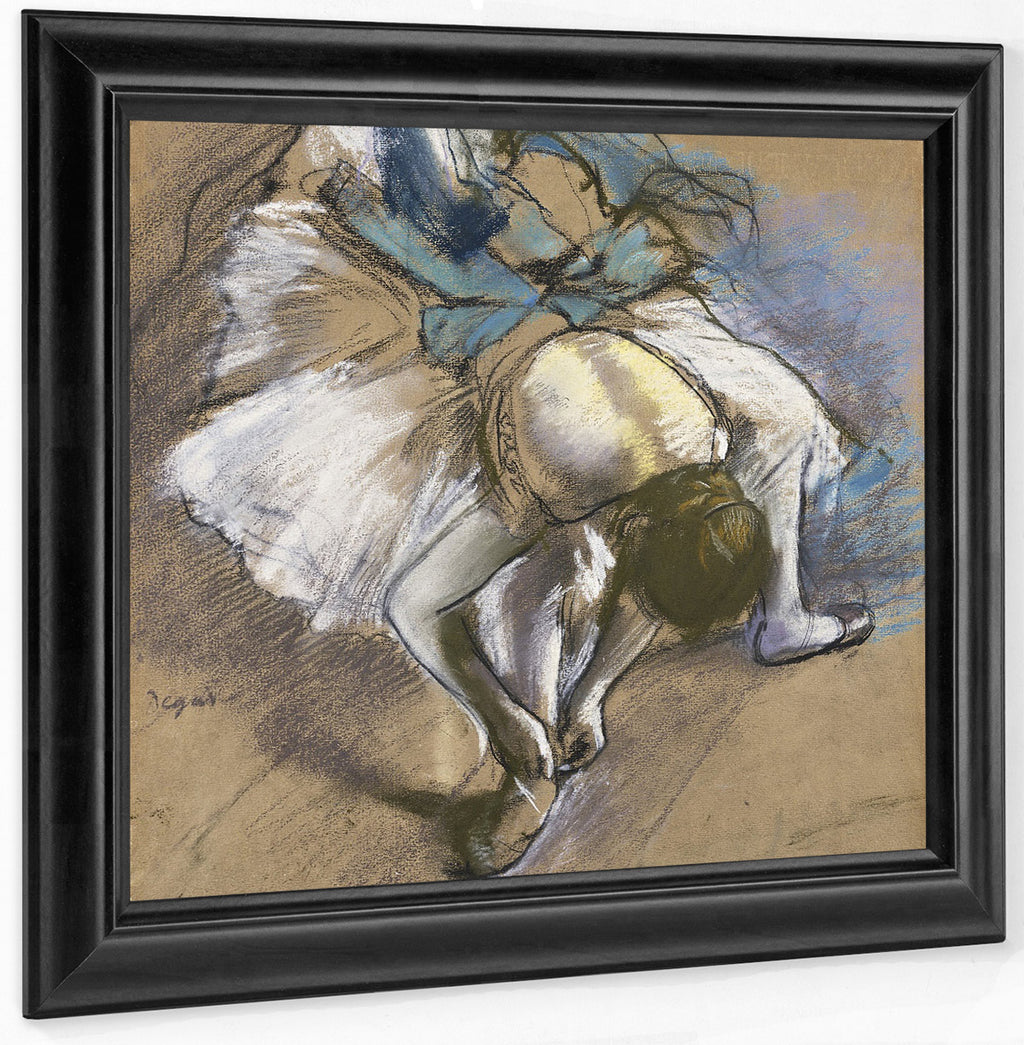 Dancer Putting On Her Shoes By Edgar Degas