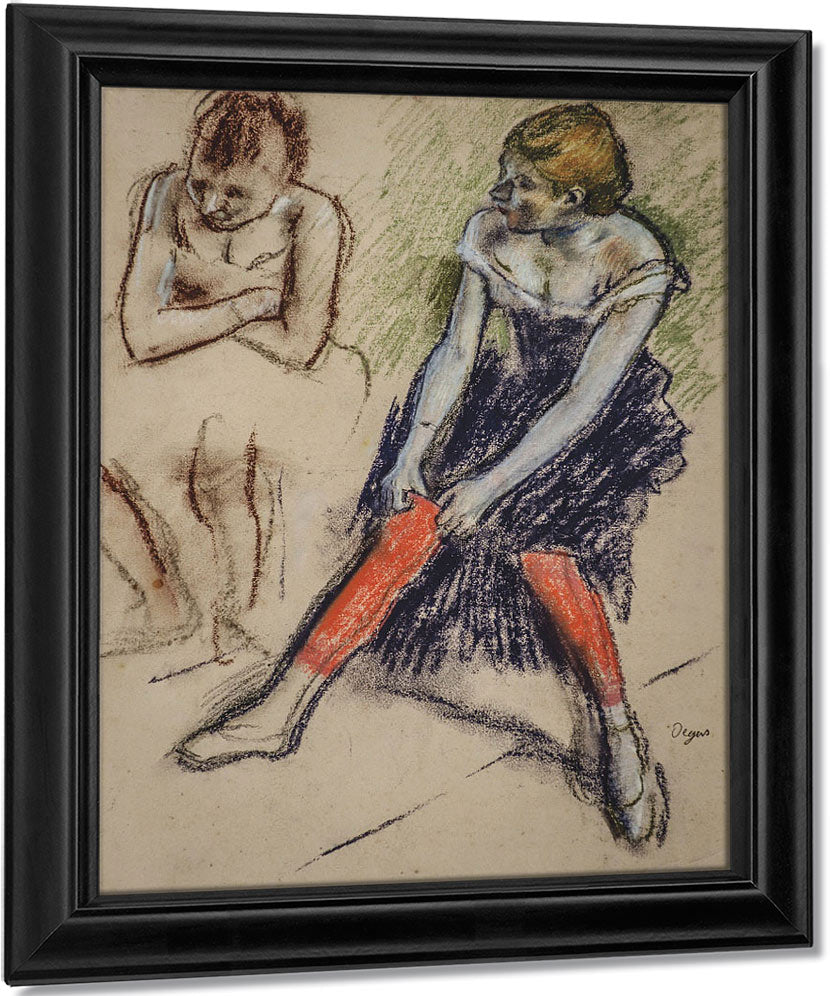 Dancer With Red Stockings By Edgar Degas