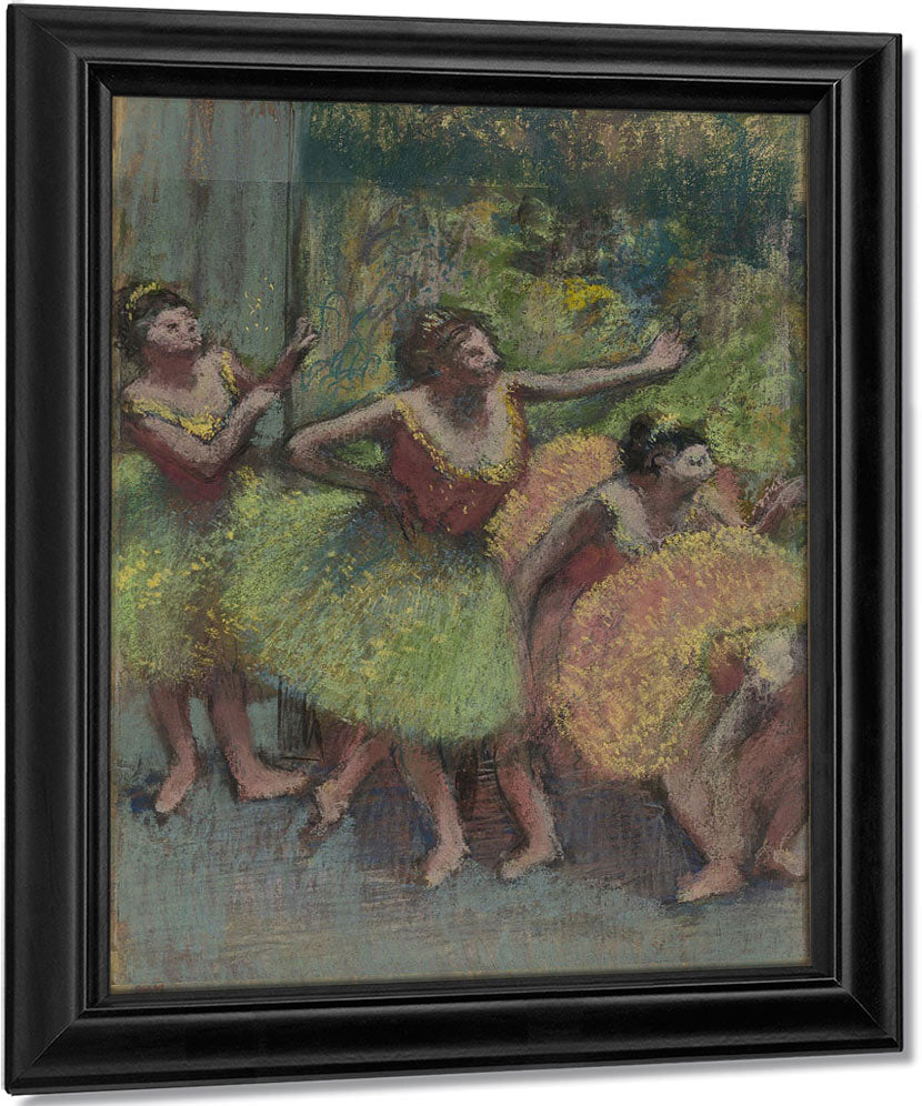 Dancers In Green And Yellow (Danseuses Vertes Et Jaunes) By Edgar Degas