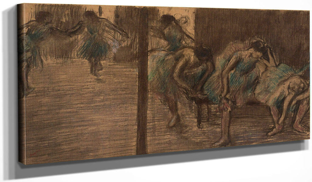 Dancers In The Rehearsal Room By Edgar Degas
