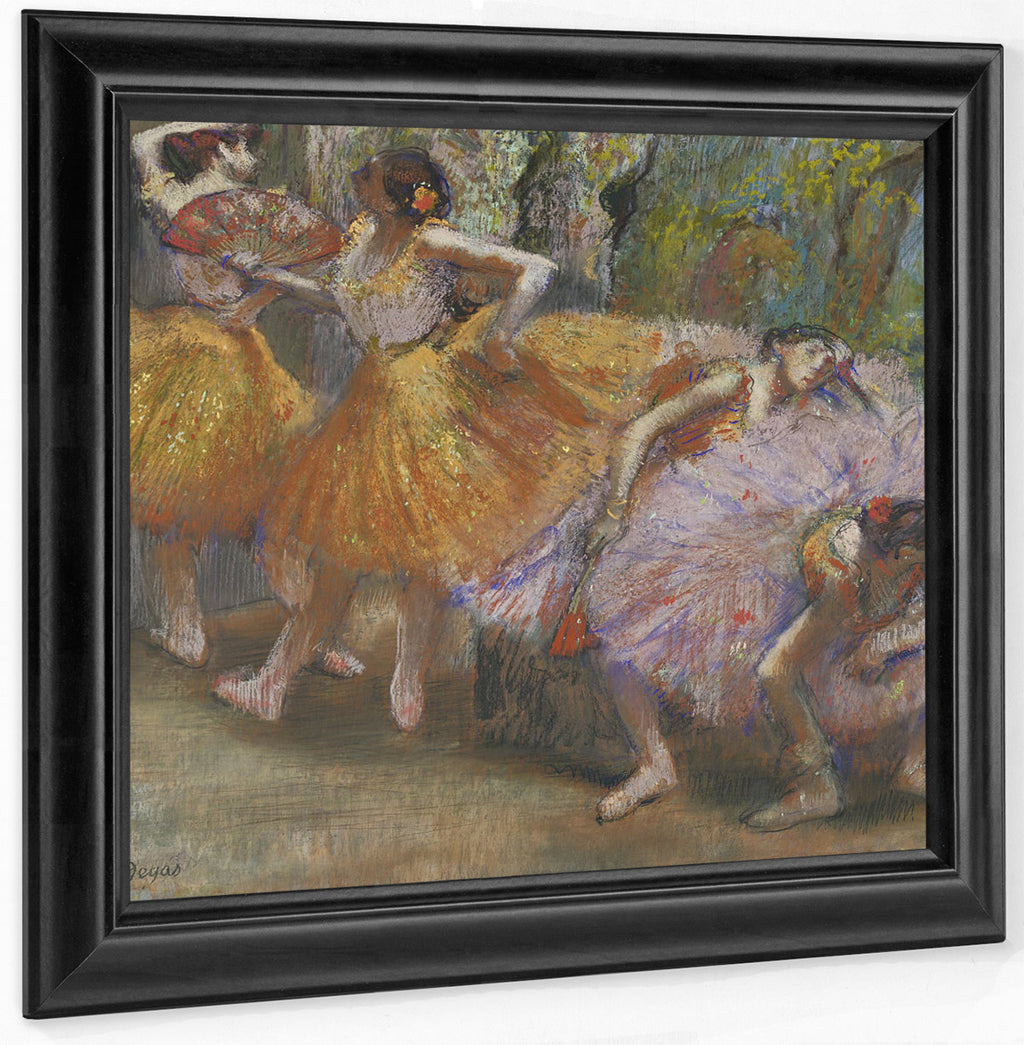 Dancers With Fans By Edgar Degas