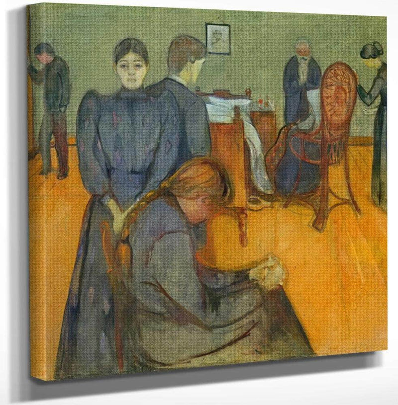 Death In The Sick Chammber 1895 By Edvard Munch