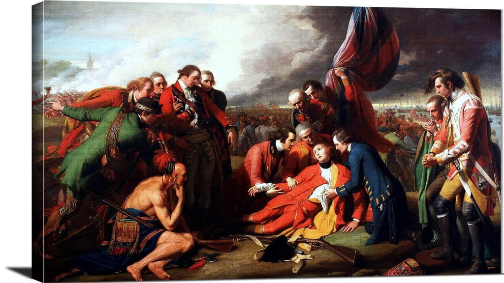 Death Of General Wolfe Painting Benjamin West Canvas Art