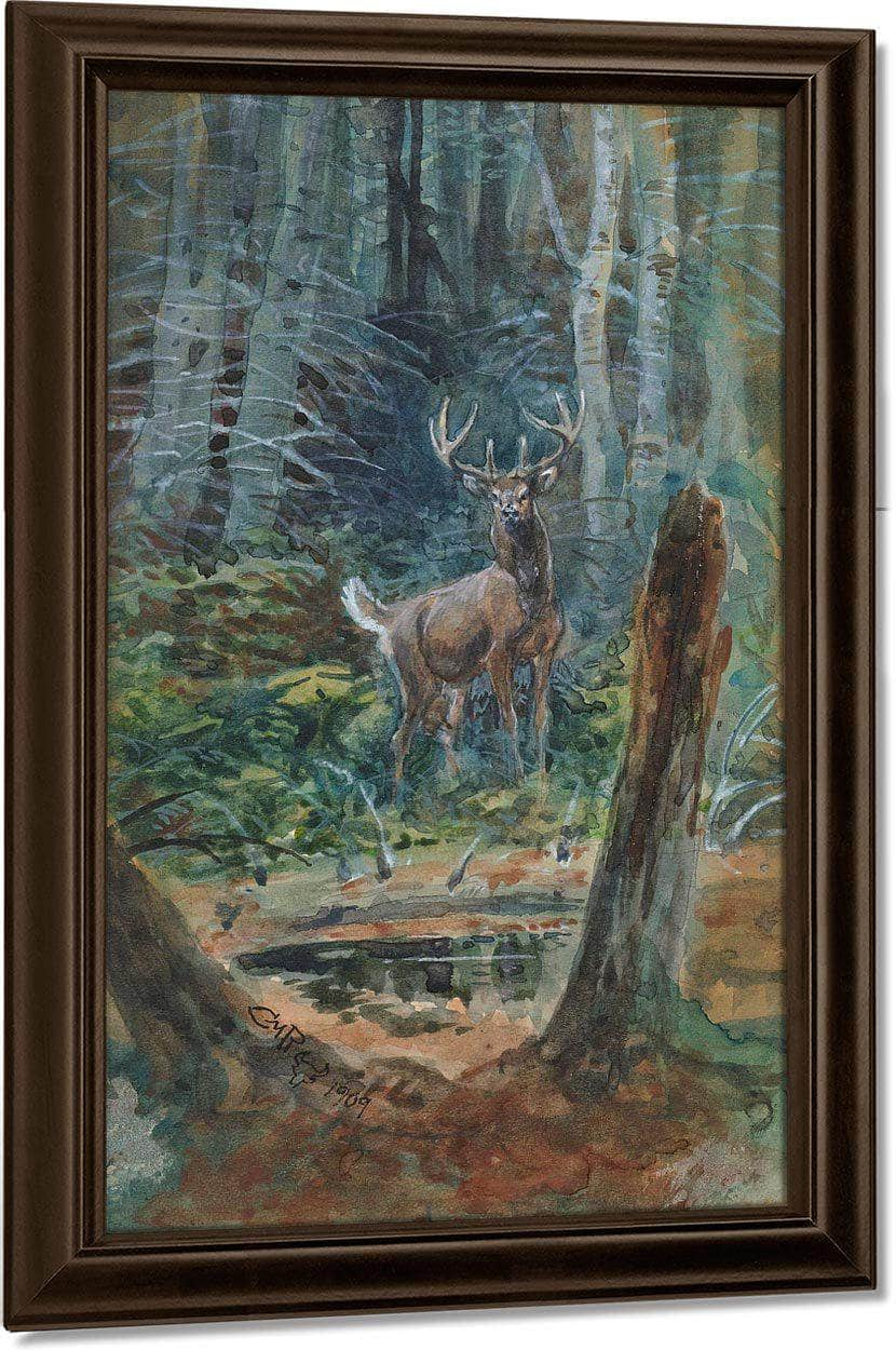 Deer In The Dell By Charles Marion Russell