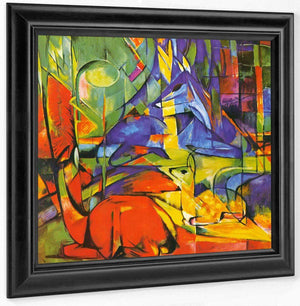 Deer In The Forest Ii Copy By Franz Marc