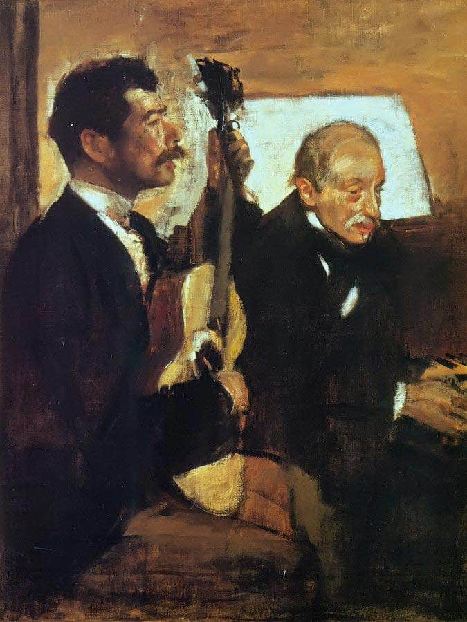 Degas Father Listening To Pagans By Edgar Degas