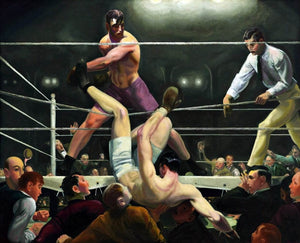 Dempsey And Firpo Painting George Wesley Bellows Canvas Art