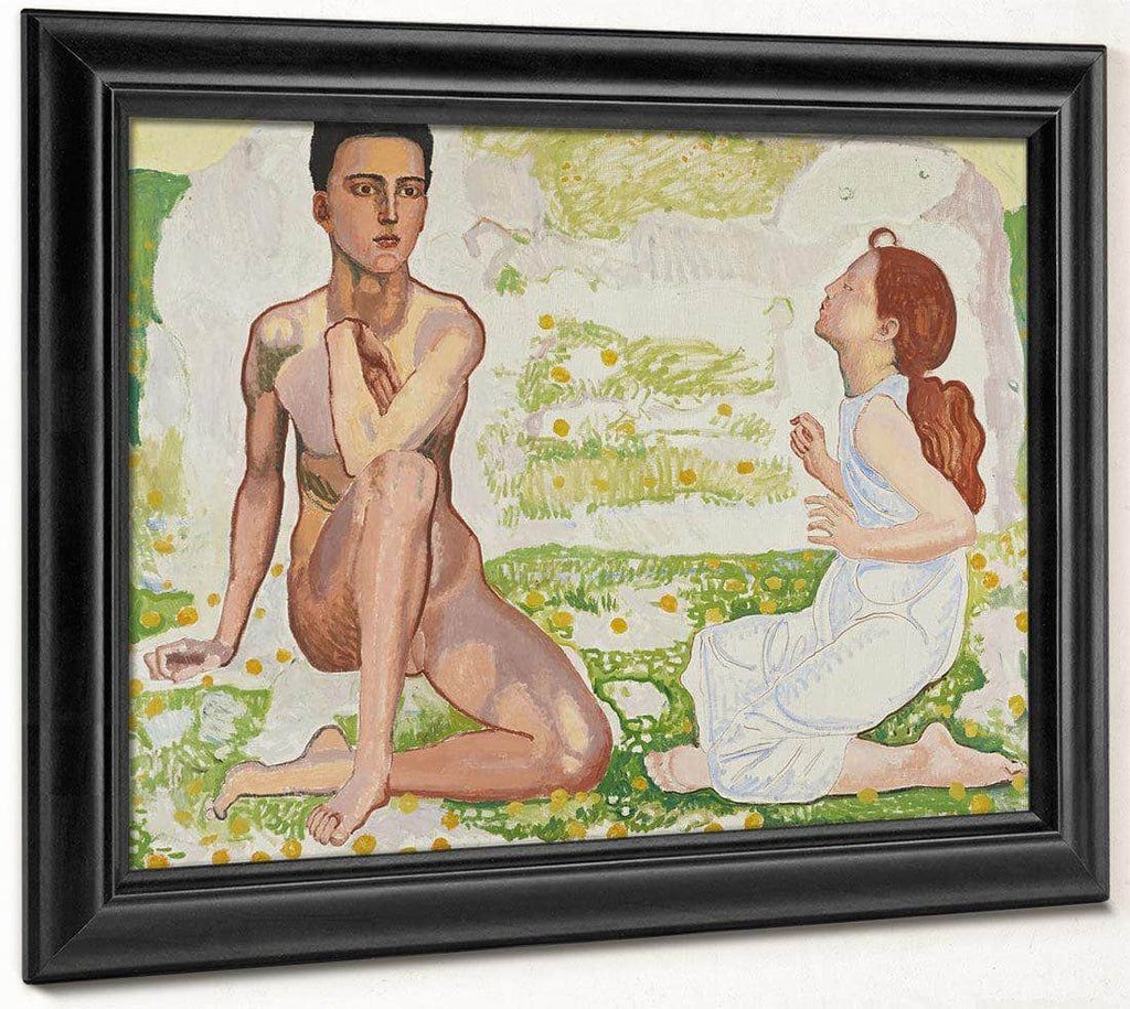 Der Fruhling 1912 Oil On Canvas 106X128 5Cm By Ferdinand Hodler