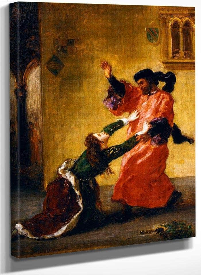 Desdemona Cursed By Her Father By Eugene Delacroix