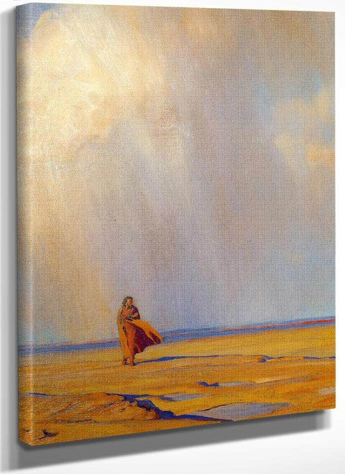 Desert Shower By Maynard Dixon