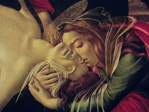 Detail Of The Lamentation Of Christ By Sandro Botticelli