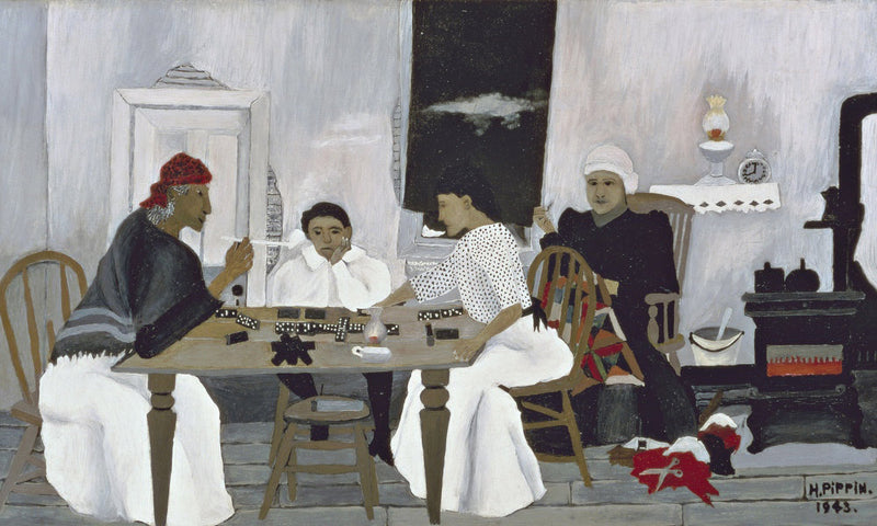 Domino Players By Horace Pippen