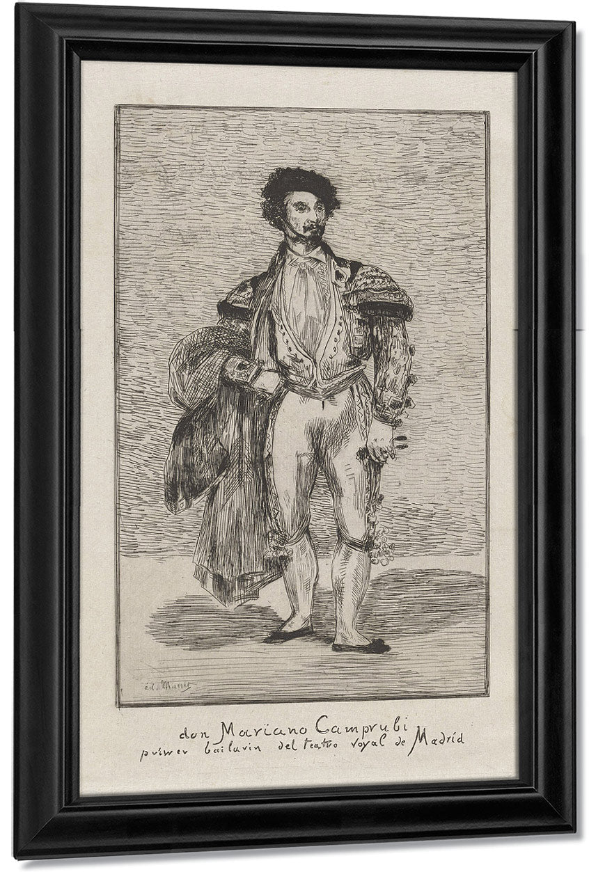 Don Mariano Camprubi Primer Bailarin Del Teatro Royal De Madrid (Don Mariano Camprubi First Dancer Of The Teatro Royal De Madrid) By Edouard Manet