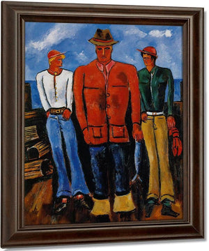 Down East Young Blades By Marsden Hartley