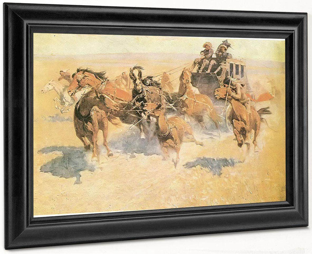 Downing The Night Leader Aka The Attack By Frederic Remington