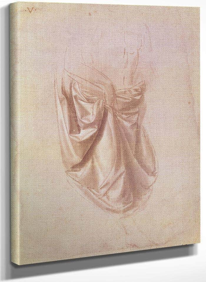 Drapery Study (Gouache On Canvas) By Leonardo Da Vinci