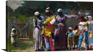 Dressing For The Carnival Painting Winslow Homer Canvas Art