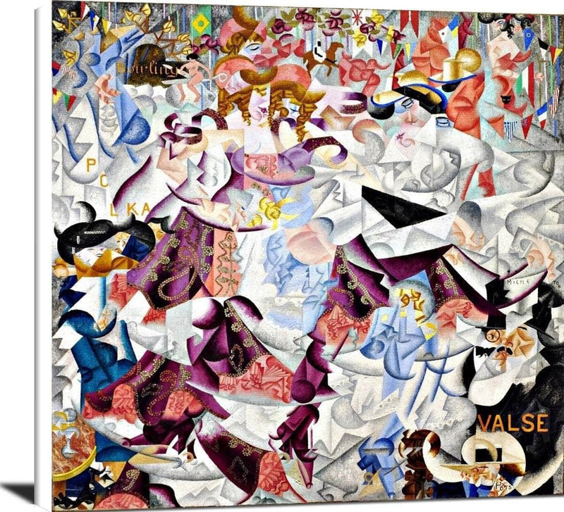 Dynamic Hieroglyphic Of The Bal Tabarin Painting Gino Severini Canvas Art