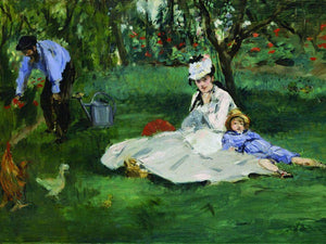E Douard Manet   The Monet Family In Their Garden At Argenteuil By Edouard Manet