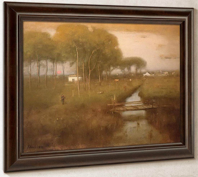 Early Moonrise Tarpon Springs By George Inness
