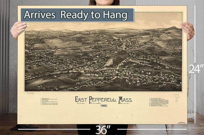 East Pepperell Mass 1886b Vintage Map