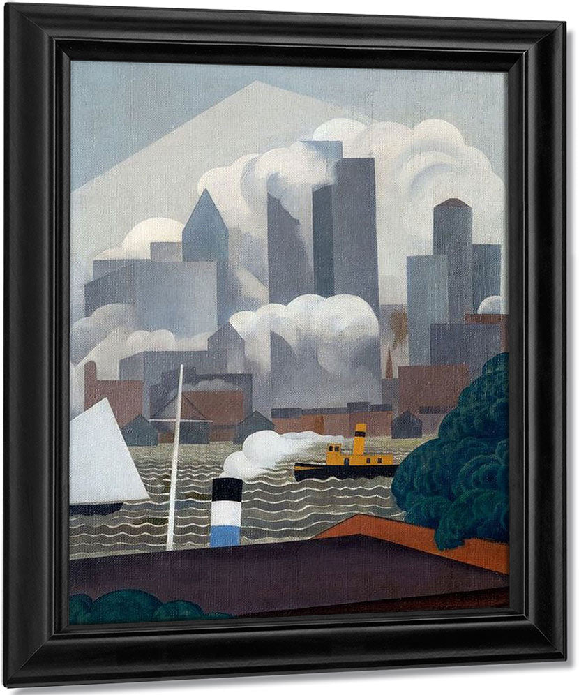 East River By George Ault