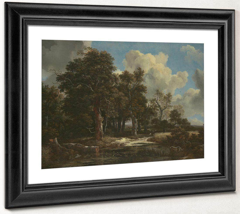 Edge Of A Forest With A Grainfield By Jacob Van Ruisdael