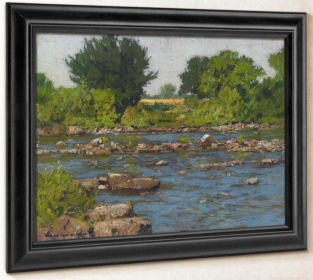 Edge Of A River By William Wendt