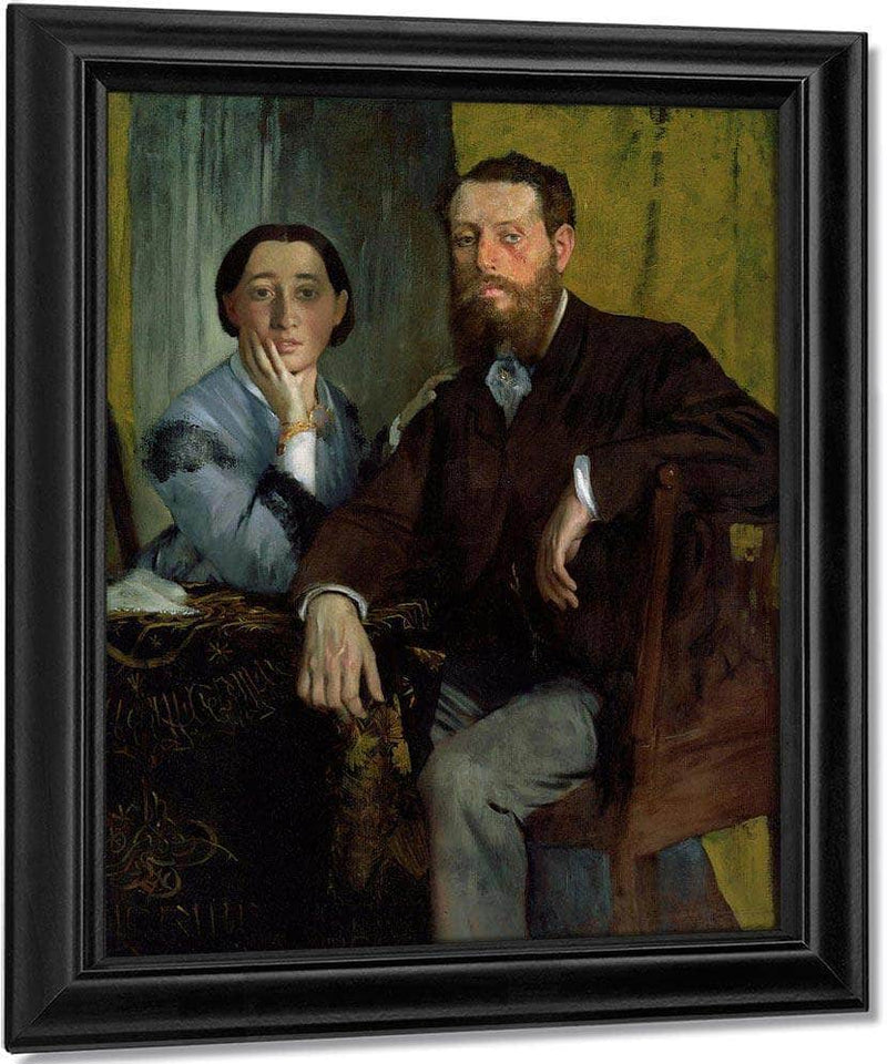 Edmondo And Therese Morbilli By Edgar Degas