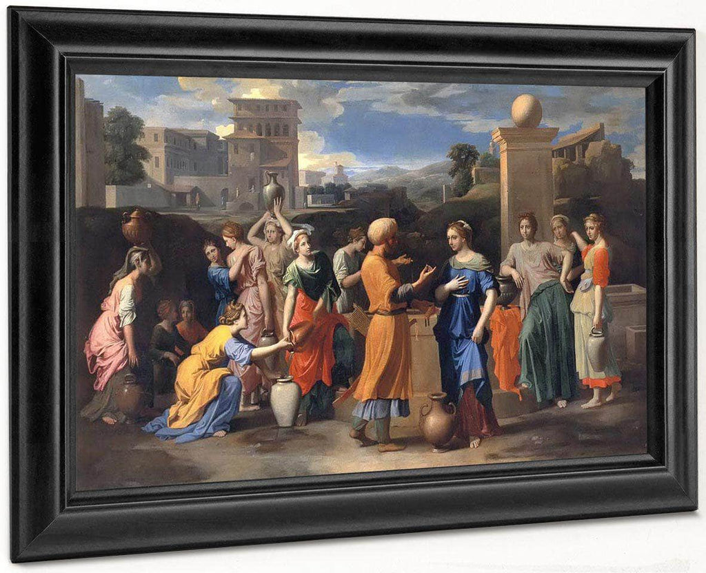 Eliezer And Rebecca By Nicholas Poussin